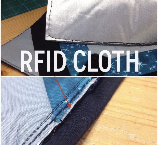 Rfid Lined Teal Chevron