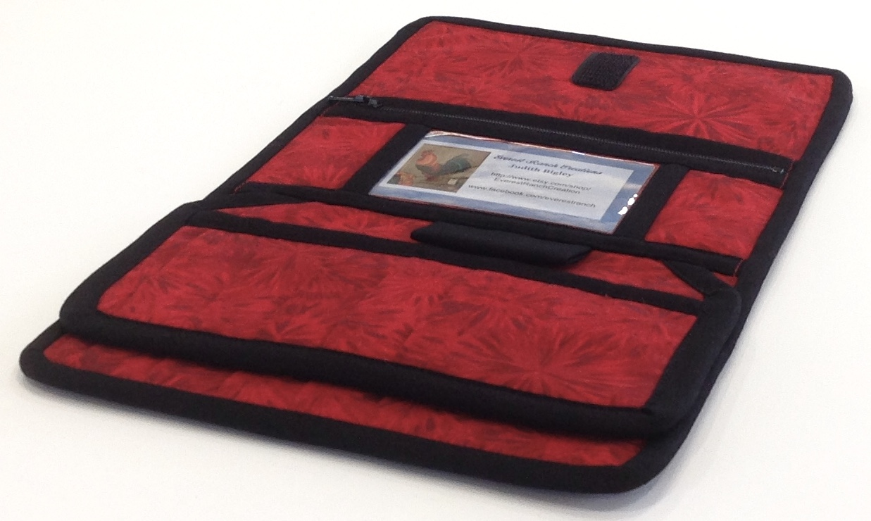 Red Woman S Wallet Quilted Vera Bradley Style Credit Card