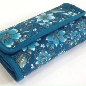 Teal Floral Checkbook